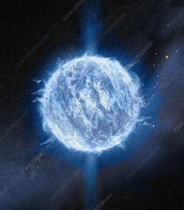 Massive neutron star, illustration