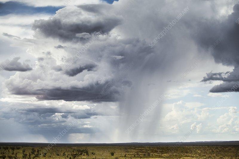 Rain clouds in distance, Australia