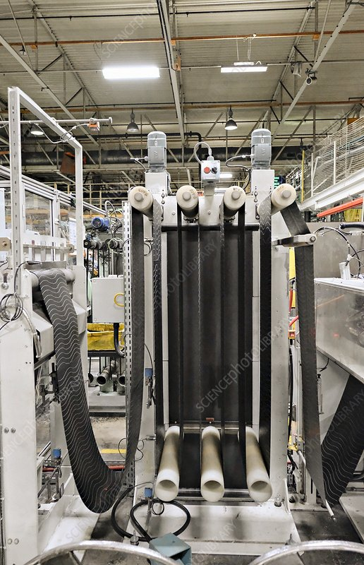 Strengthened rubber in tyre factory, UK