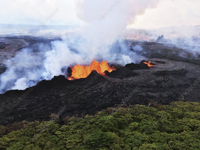 Kilauea eruption lava fountains, May 2018
