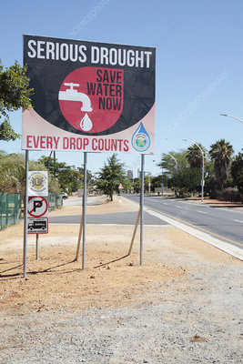 Drought sign, South Africa