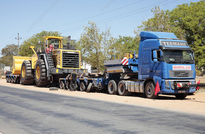 Mining vehicle transport, South Africa