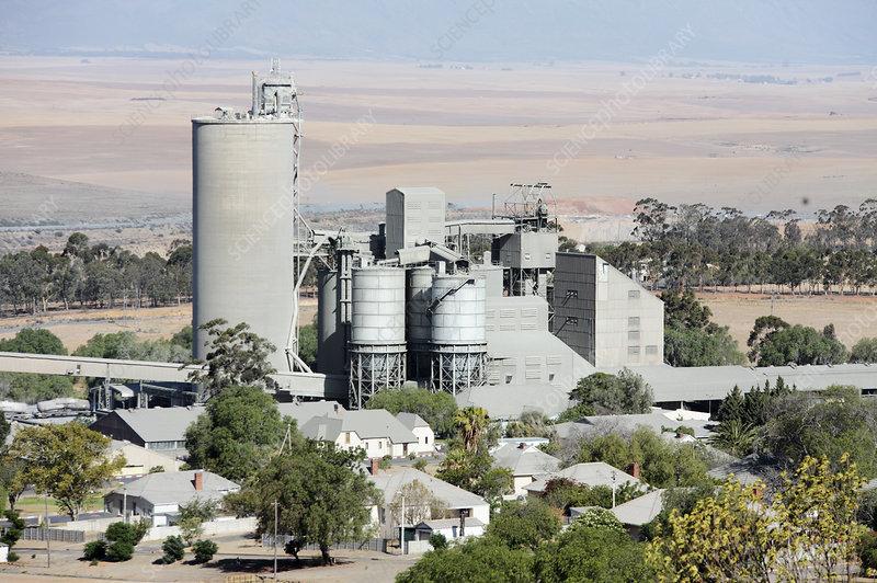 Limestone mine, South Africa - Stock Image - C038/8486
