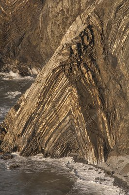 Folds in rock, Cemaes Head, Pembrokeshire, Wales, UK