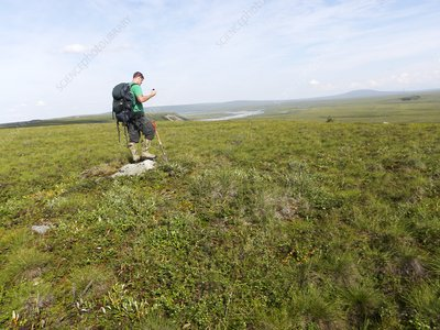 Climate researcher studying permafrost