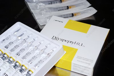 Decapeptyl drug vials and packaging