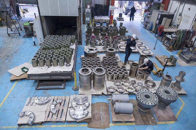 Components ready for electroless nickel plating