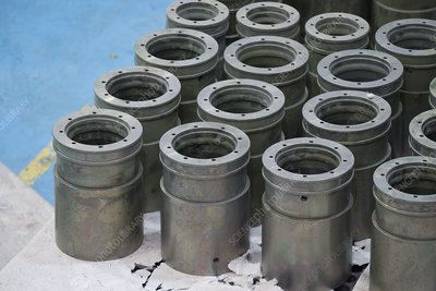 Components after for electroless nickel plating