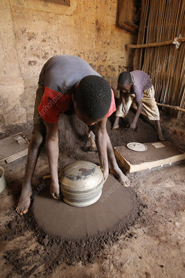 Smithy in Bohicon, Benin Child workers