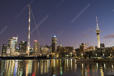 Auckland, New Zealand, at night
