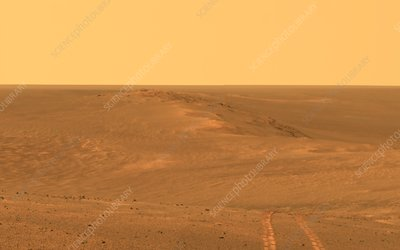 Rim of Endeavour Crater on Mars, Opportunity rover image