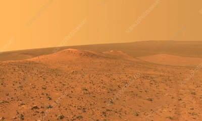 Wdowiak Ridge on Mars, Opportunity rover image