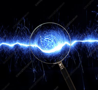 Electricity research, conceptual image