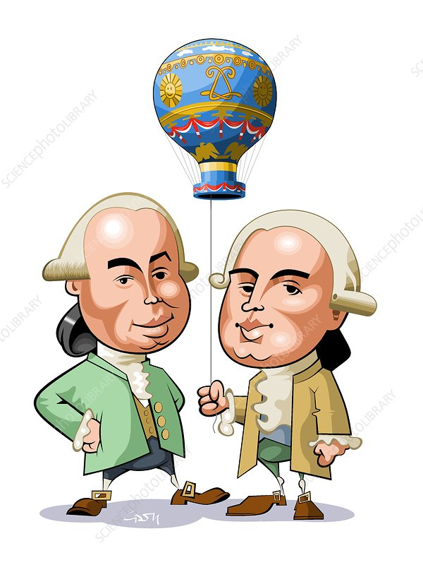 Montgolfier brothers, French balloonists