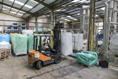 Plastics recycling centre, UK