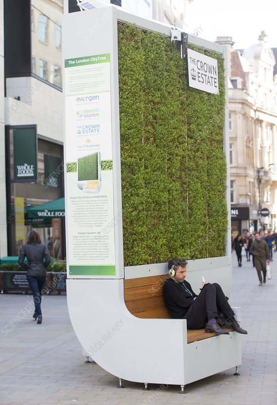 CityTree installation in London, April 2018