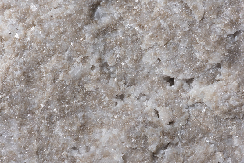 Dolomite rock fracture surface, macrophotograph