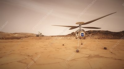 Mars 2020 Helicopter Scout, illustration
