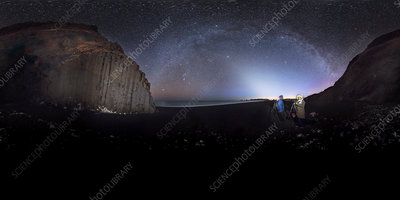 Milky Way over Icelandic coast