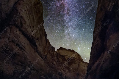 Milky Way from a gorge