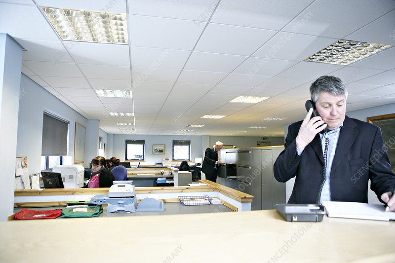 Office worker on telephone
