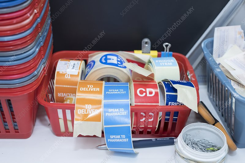 Pharmacy delivery stickers