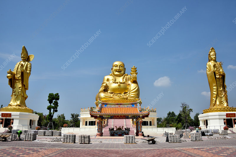 The Golden Statues in Chachoengsa