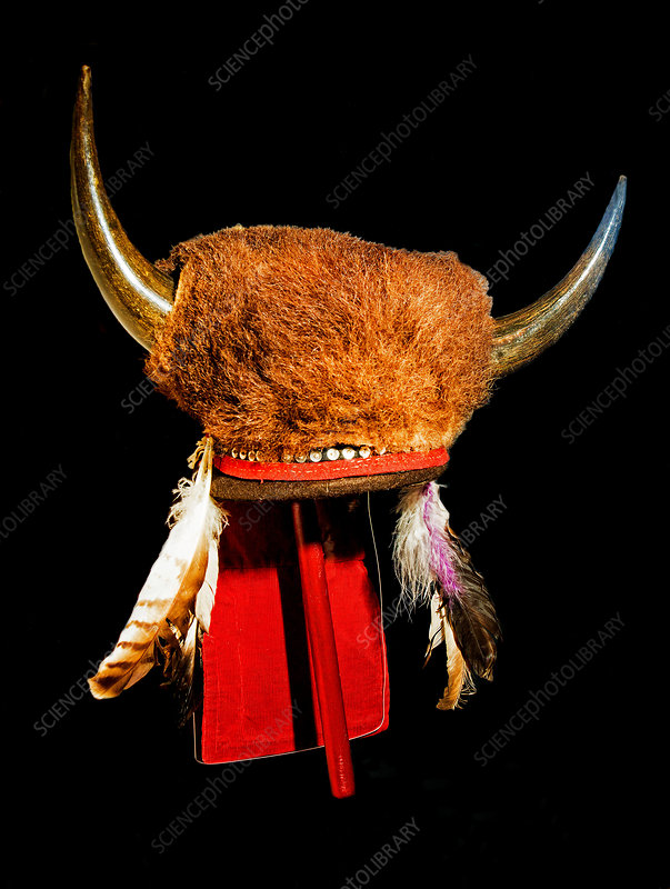 1870's Comanche Indian Bison Horn Headress