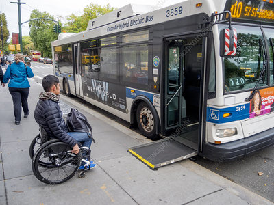 Handicapped Bus Rider NY City