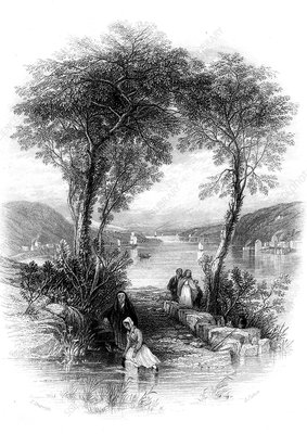 Collecting water in Ireland, 19th century