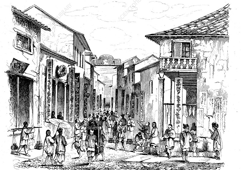 Street in China, 19th century