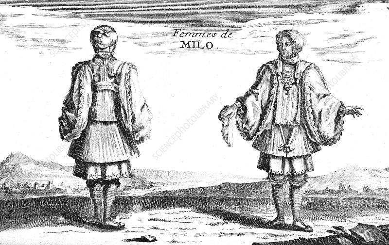 Milos women, 18th century