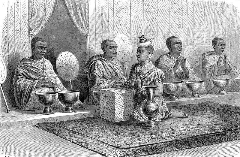 Royal tonsure ceremony in Siam, 19th century