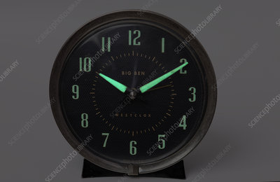 Radium Dial on Clock