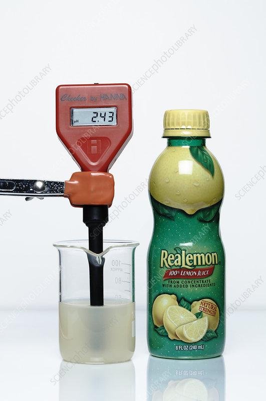 pH of Lemon Juice