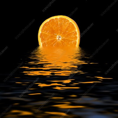 Health benefits of citrus fruits, conceptual image