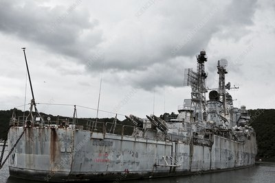 French cruiser Colbert awaiting scrapping, 2015
