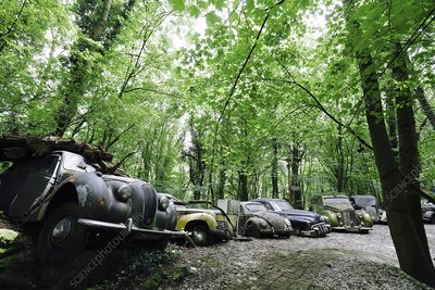 Car museum and cemetery, Erkath, Germany