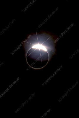 Diamond Ring Effect, Solar Eclipse, August 21, 2017