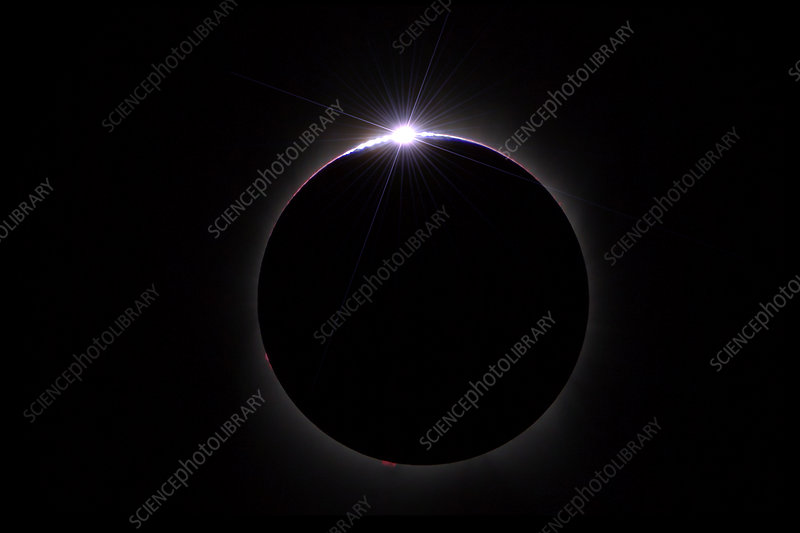 Diamond Ring, Total Solar Eclipse, 21 August 2017