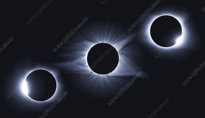 Diamond Rings and Totality, Solar Eclipse