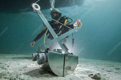 Sampling sand quality on the seabed