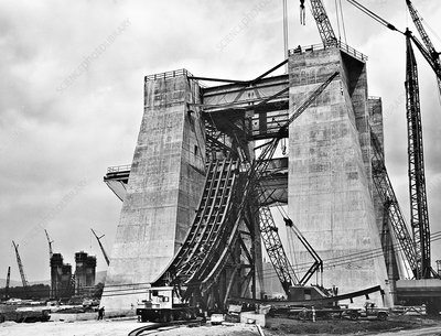Saturn V first stage test stand construction, 1963