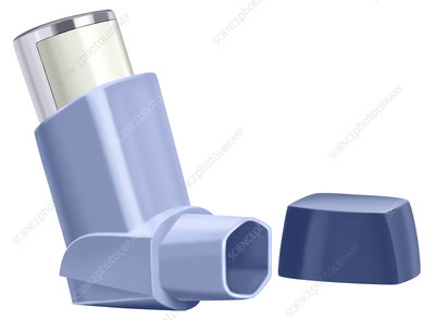Metered dose inhaler, illustration