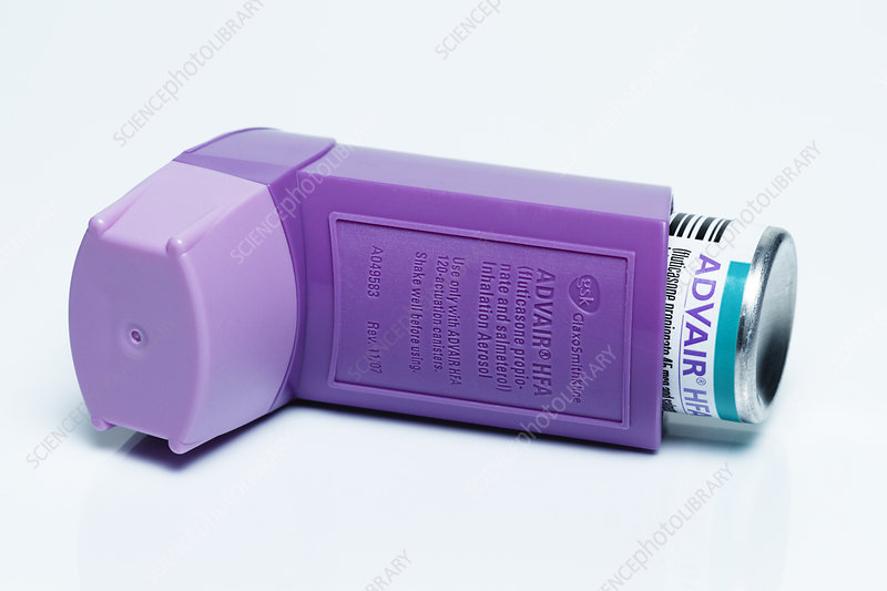 Advair Hfa Inhaler Stock Image C039 4418 Science Photo Library