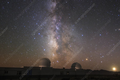 Milky Way over Qinhai Observation Station, China