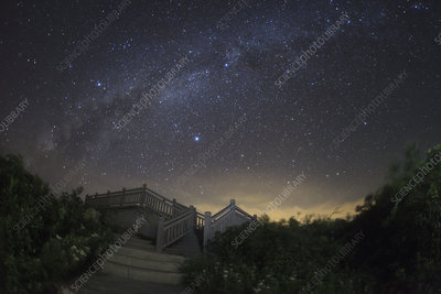 Milky Way in summer from China