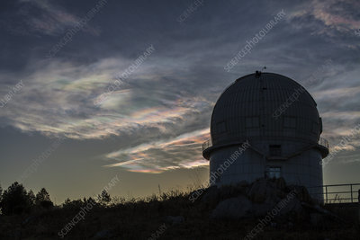 Cloud iridescence over Yunnan Astronomical Observatory