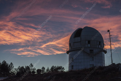 Clouds at sunset over Yunnan Astronomical Observatory