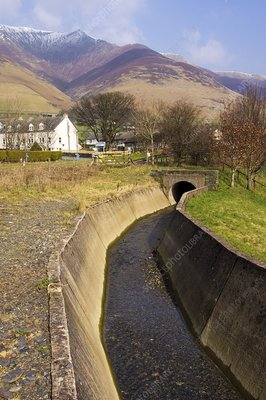 Drainage channel, Lake District, UK